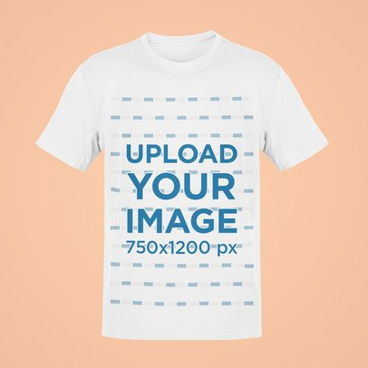 Ghosted Mockup of a Basic T-Shirt Featuring a Transparent Background 42427-r-el2
