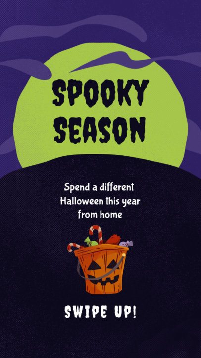 Instagram Story Template Featuring Creepy Graphics for Halloween 2953-el1