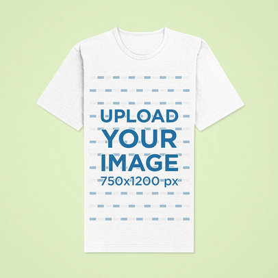 Mockup of a Perfectly Flat T-Shirt on a Colored Surface 42431-r-el2