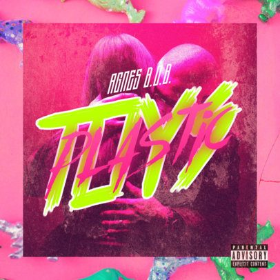 Cover Art Generator for Trap Singers Featuring Neon Graphics 2983b