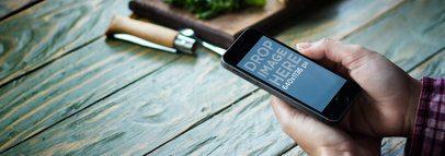 iPhone 5s Dark Portrait At Bistro Table Wide