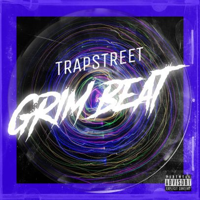 Trap Album Art Maker Featuring Abstract Neon Graphics 2983d