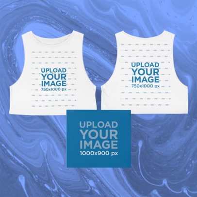 Merch Bundle Featuring Both Sides of a Cropped Sleeveless Tee and a Digipak 43413-r-el2