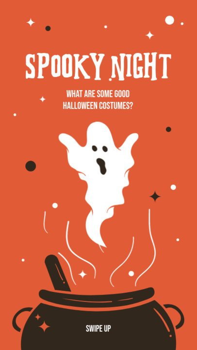 Instagram Story Design Template with Spooky Graphics for Halloween 2955-el1