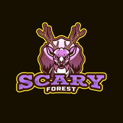 Creepy Gaming Logo Maker Featuring a Mad Deer 3711d