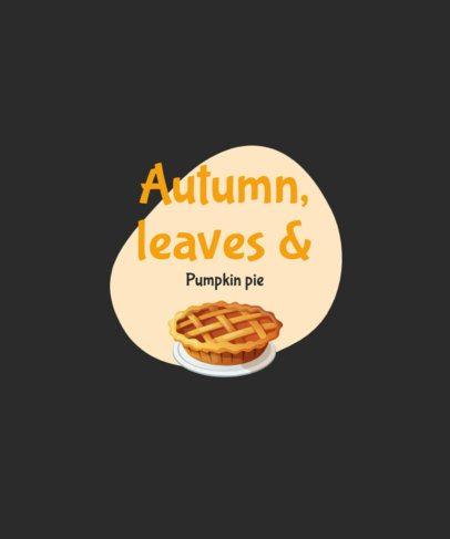 Thanksgiving T-Shirt Design Maker Featuring a Pumpkin Pie Graphic 2946c-el1