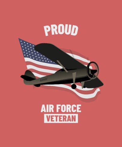 T-Shirt Design Maker for American Veterans 2992a