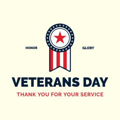Instagram Post Generator with a Medal to Honor Veterans' Day 2994c
