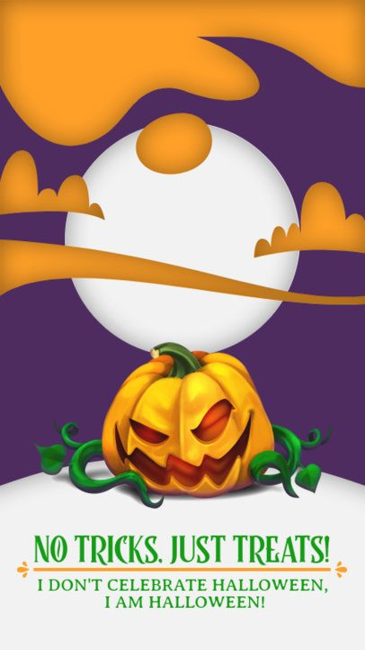 Instagram Story Creator with a Halloween Pumpkin Graphic 2952c-el1