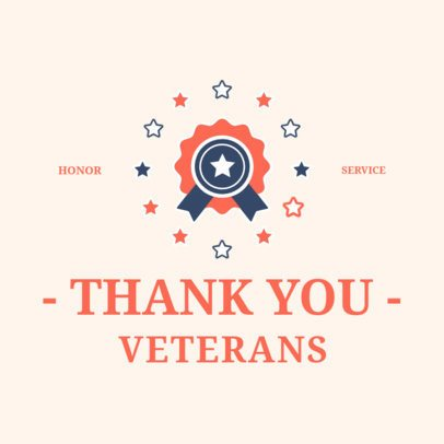 Instagram Post Maker with a Quote Thanking Veterans 2994e