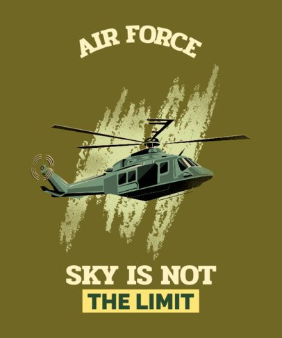 T-Shirt Design Maker with an Air Force Helicopter 2992d
