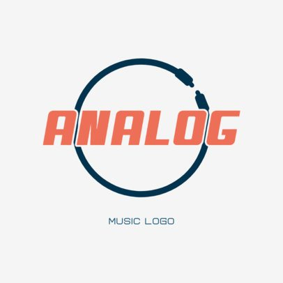 Typographic Logo Maker for a Music Store Featuring a Wire 3698a