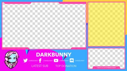 Twitch Overlay Generator for a Live-Reaction Gaming Streamer 2990d