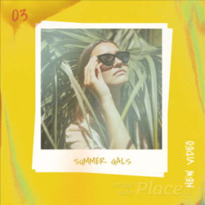 Summer-Themed Instagram Post Video Maker For an Electro-Pop Music Video Ad 2254