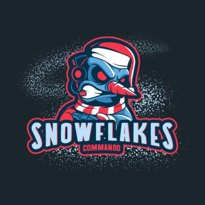 Gaming Logo Generator Featuring an Aggressive Snowman Illustration 3711i