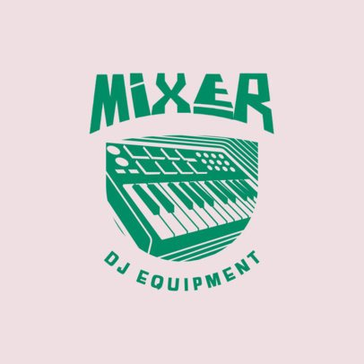 Minimalist Logo Maker for a DJ 3704d