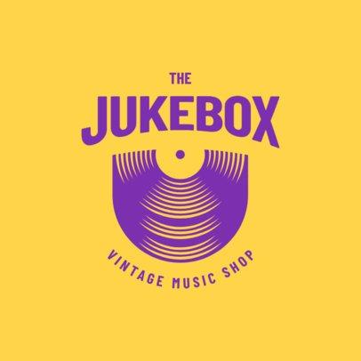 Logo Maker for a Vintage Music Shop 3704c