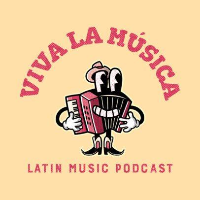 Music Logo Maker with Vintage-Style Cartoonish Illustrations 3735