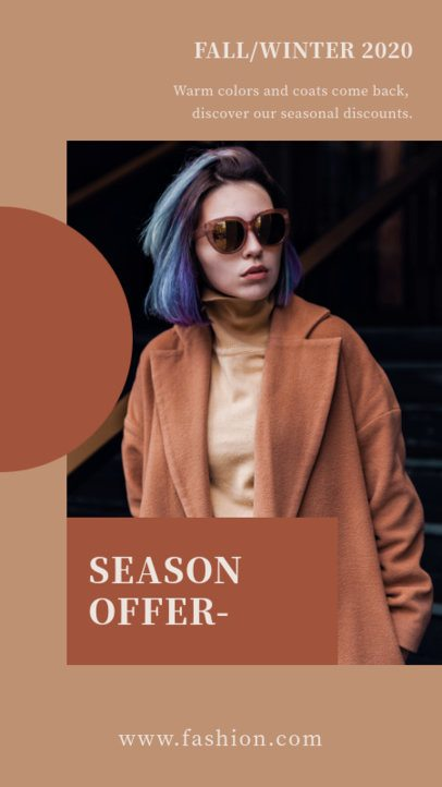 Instagram Story Design Templates to Announce a Fall/Winter Fashion Collection 2998-el1