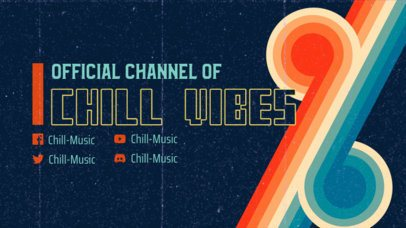 Twitch Banner Generator for a Musician with a Retro Vibe 3019b