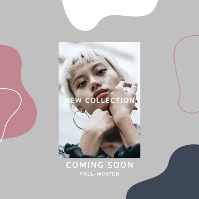 Instagram Post Maker for Fashion Brands Featuring Abstract Shapes 3002a-el1
