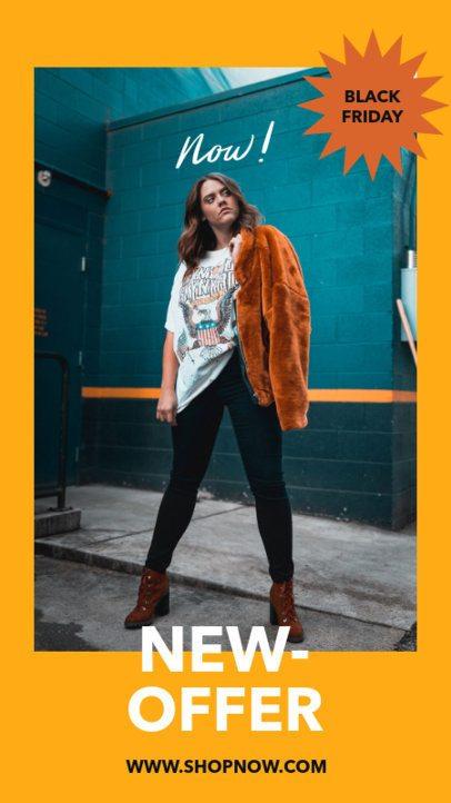 Instagram Story Design Generator for Black Friday Fashion Deals 2976b-el1