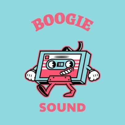 Cartoonish Logo Creator for a 70's-Inspired Musician 3735d