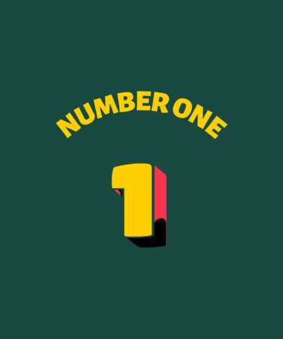 Sports T-Shirt Design Generator Featuring a Number One Number 3017e