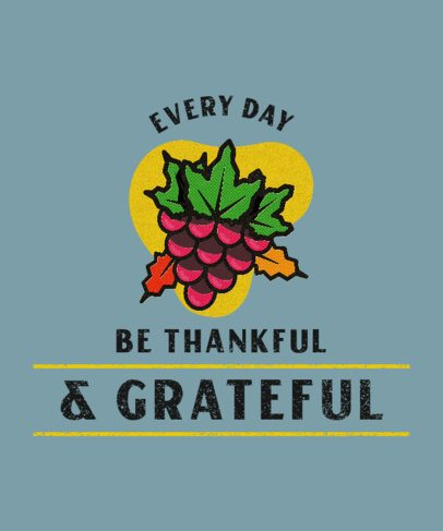 Thanksgiving-Themed T-Shirt Design Creator Featuring Illustrated Grapes 3007b