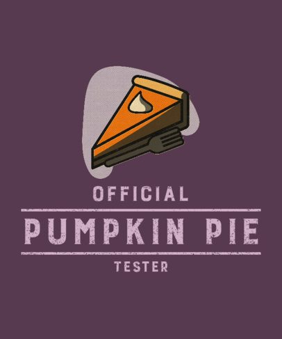 Thanksgiving-Themed T-Shirt Design Creator with an Illustrated Pumpkin Pie Slice 3007h