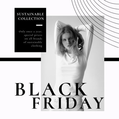 Instagram Post Template for a Black Friday Sale Announcement 2982-el1