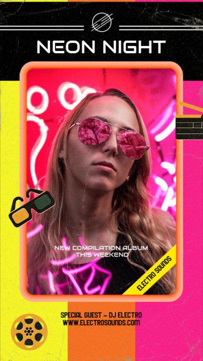 Instagram Story Maker to Promote a DJ's Album Compilation 3018g