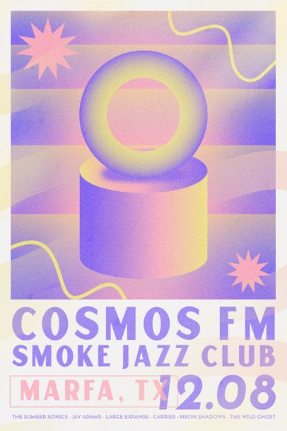 Psychedelic Poster Design Template for a Jazz Festival 3015g