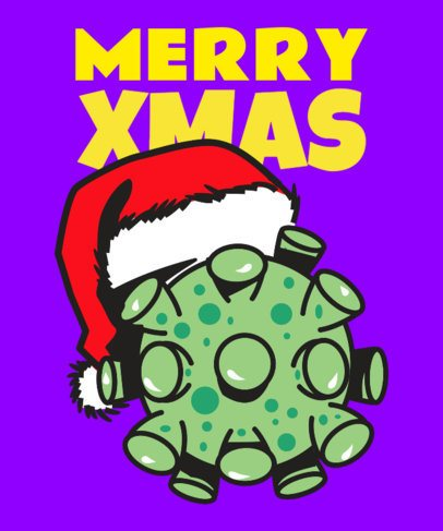 T-Shirt Design Maker for a Covid Christmas 3013h