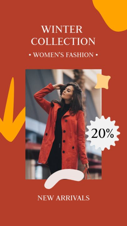 Instagram Story Creator for a Winter Collection Sale 2996d-el1