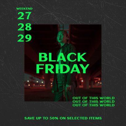 Instagram Post Generator for a Black Friday Offer 2986a-el1