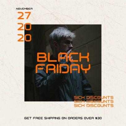 Instagram Post Template for Special Black Friday Discounts 2986b-el1