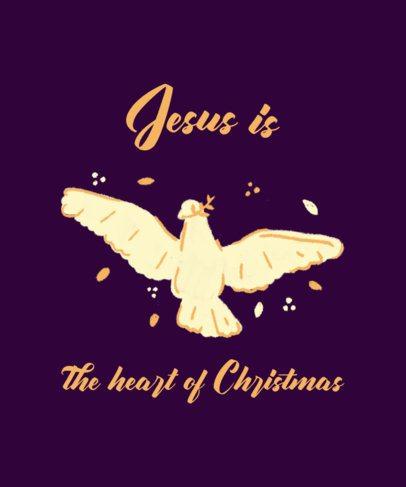 Christmas T-Shirt Design Maker Featuring a Dove Graphic 3014e