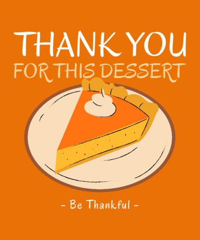 Illustrated T-Shirt Design Generator Featuring a Thanksgiving Pumpkin Pie  3009h