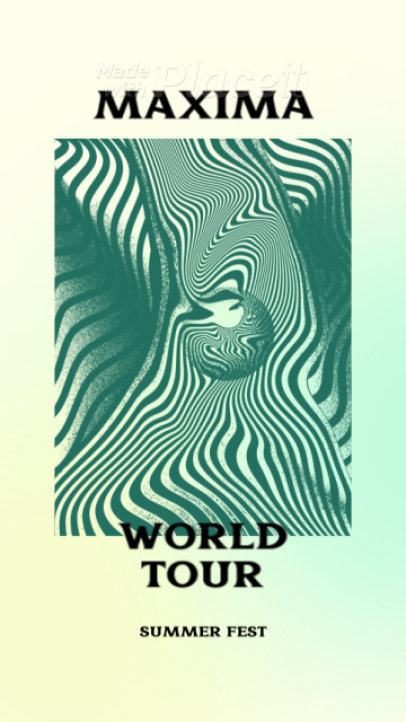 Instagram Story Video Maker for a Psychedelic Rock Band's World Tour Announcement 2217