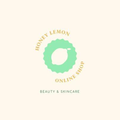 Korean Beauty Brand Logo Generator Featuring a Lemon Icon 3726j