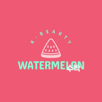 Dropshipping Beauty Logo Maker with a Watermelon Graphic 3728e