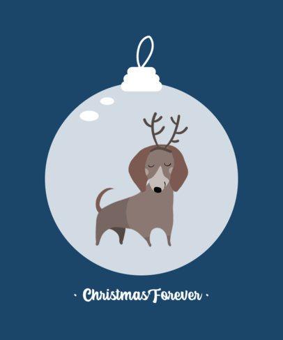 Christmas T-Shirt Design Generator Featuring a Cute Dachshund Clipart 3031e-el1