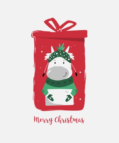 T-Shirt Design Maker Featuring Cute Cows on Christmas Boots 3033-el1