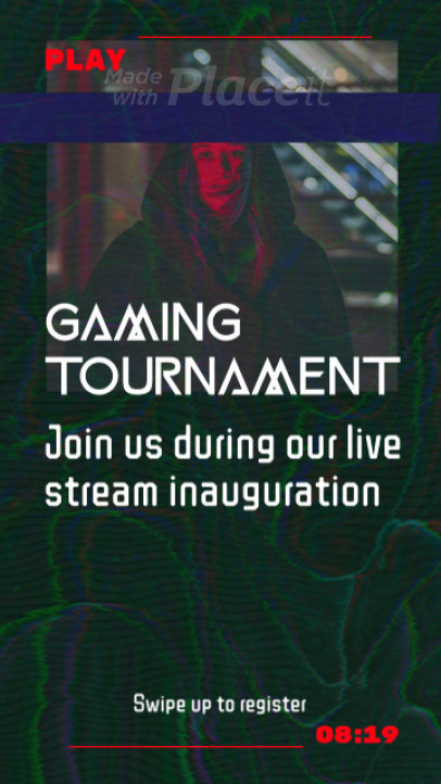 Instagram Story Video Creator to Announce a Gaming Tournament Streaming 2203