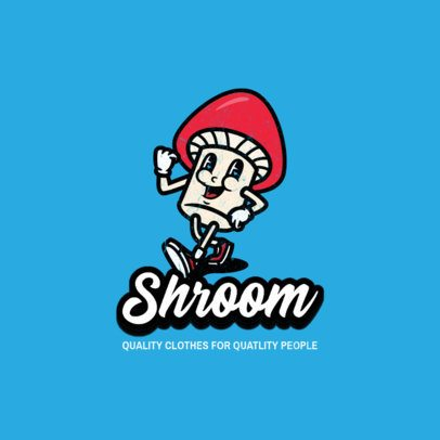 Mushroom-Themed Logo Maker with Cartoon Characters for a Streetwear Brand 3049-el1