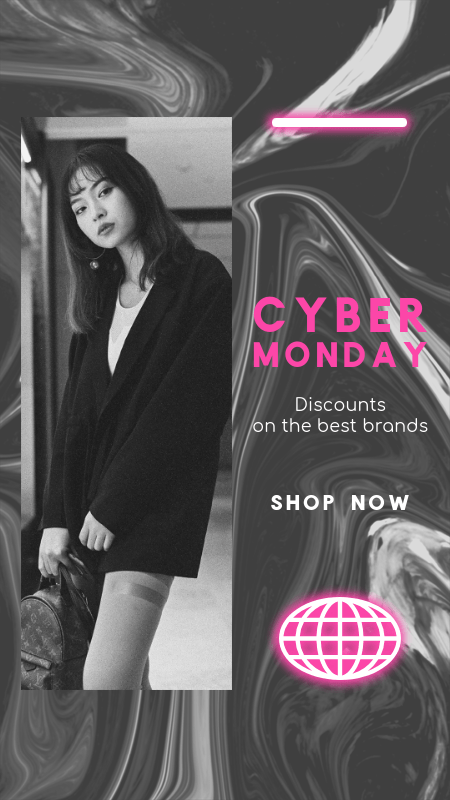 Instagram Story Design Maker with a Cyber Monday Discount for Clothing Brands 3017a-el1
