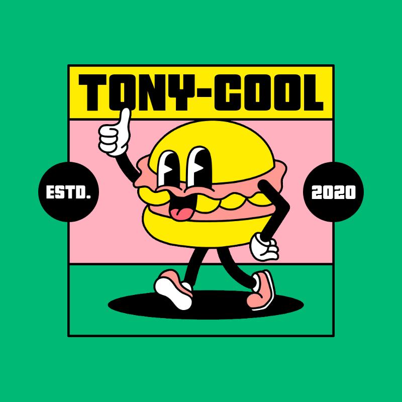 Logo Maker with a Retro Theme Featuring a Cool Hamburger 3053d-el1