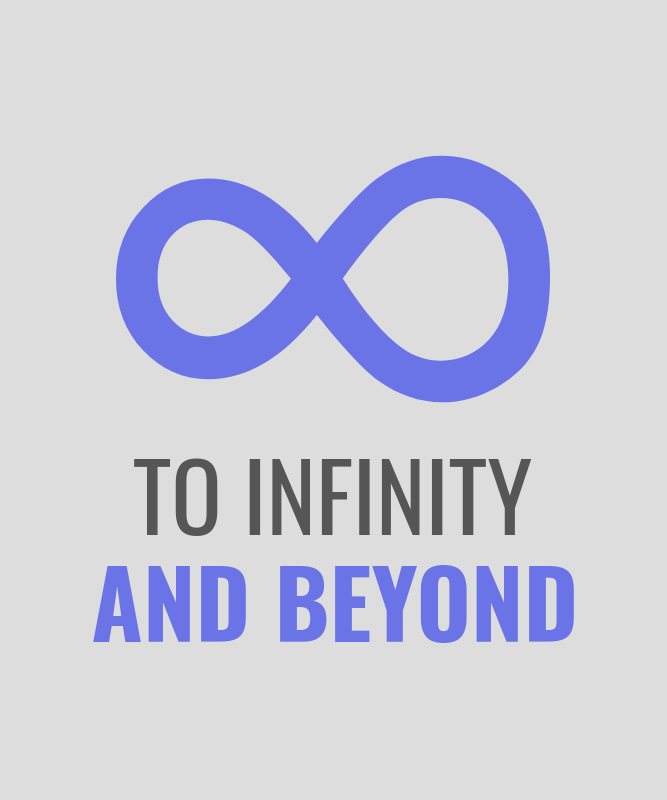 Funny Math T-Shirt Design Template with an Infinity Graphic 3053b