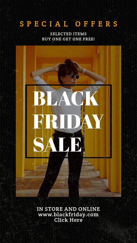 Instagram Story Generator for a Black Friday Special Sale Ad 3028k